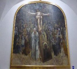 Una tavola della Via Crucis